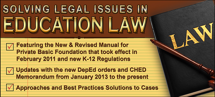 Solving Legal Issues in Education Law - Flyer and Course Outline