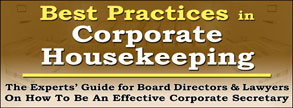 Best Practices in Corporate Housekeeping
