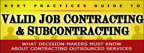 Best Practices in Valid Job COntracting and Subcontracting