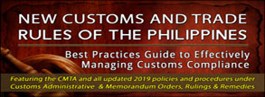 New Customs and Trade Rules of the Philippines