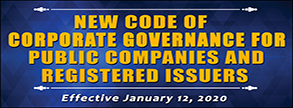 New Code of Corporate Governance for Public Companies & Registered Issuers
