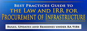 The Law and IRR for Procurement of Infrastructure