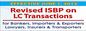 Revised ISBP 2013 on LC Transactions