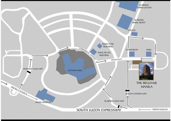The Bellevue Manila Location Map
